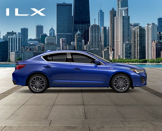 2021 ILX A-Spec in Apex Blue Pearl profile view